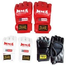 Boxing Gloves MMA Muay Thai Gym Punching Bag Half Mitt Train Sparring Kick Boxing Training Equipment