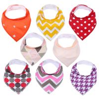 8pcs Lot New Design Baby Bibs For Boy Girl Burp Cloths Bandana Bibs Baby Bandana Infant