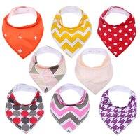 8pcs Lot New Design Baby Bibs For Boy Girl Burp Cloths Bandana Bibs Baby Bandana Infant