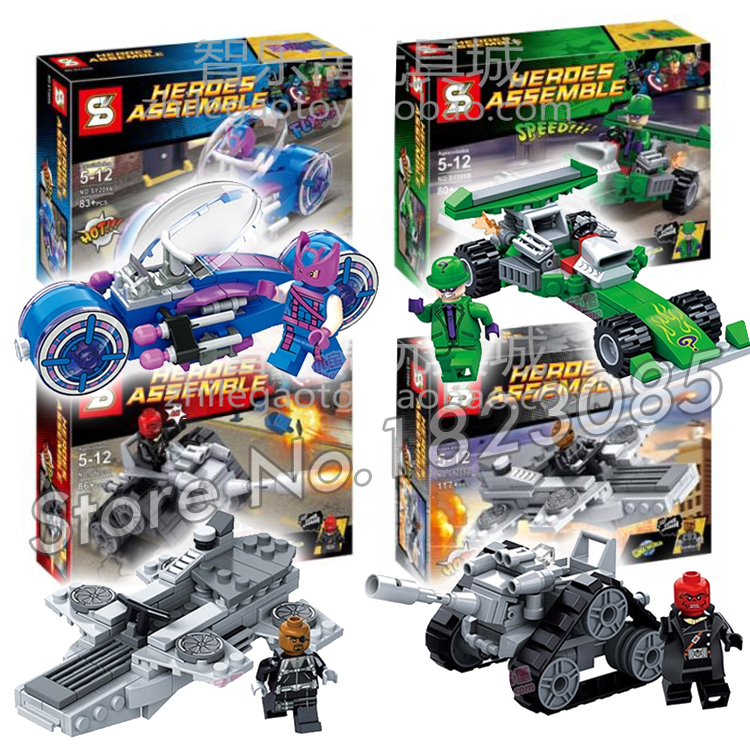 4pcs/set SY209 <font><b>Super</b></font> <font><b>Hero</b></font> Marvel Villain Magneto/Red Skull/Riddler Building Bricks Blocks Set Education Toy Compatible With <font><b>Lego</b></font>