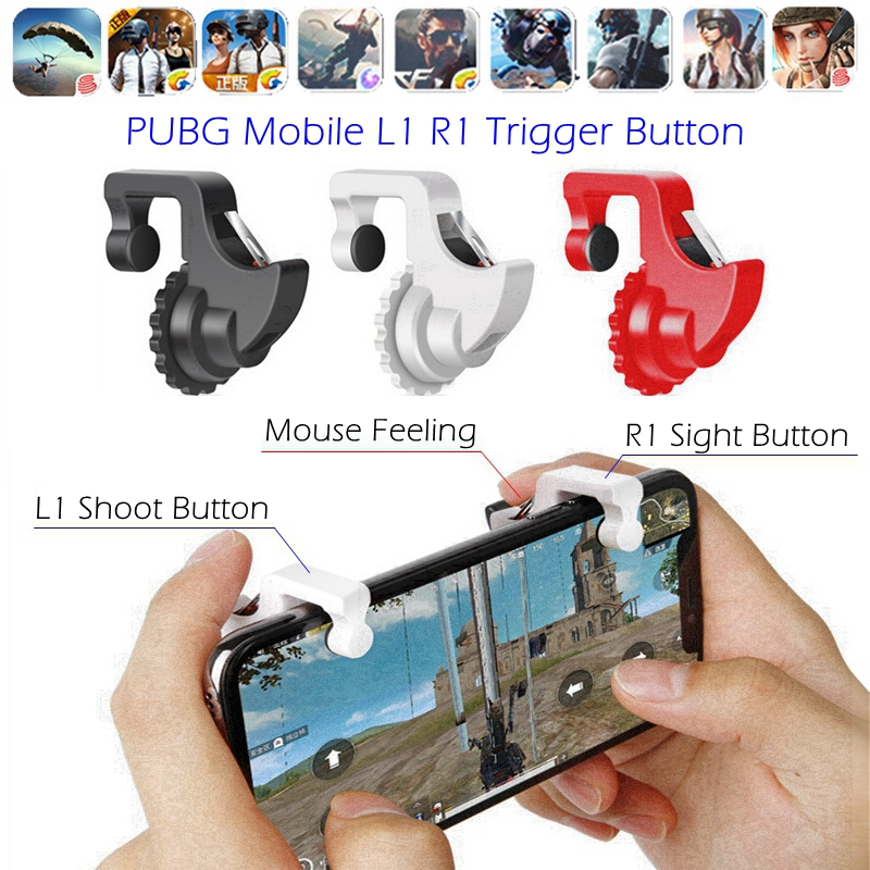 L1 R1 PUBG Mobile Trigger Controller L1R1 Shoot Fire Button Smartphone Game Joystick Gamepad for iPhone IOS Android Phone Gaming image