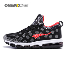 ONEMIX men off black sports air cushion shoes running sneakers fitness for male walking shoes men max big size 36-46.TN