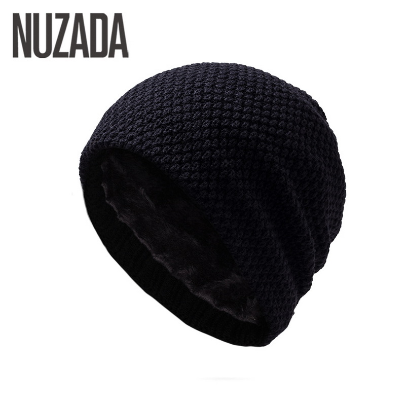 Brand NUZADA Winter Autumn Keep Warm Men Women Unisex Skullies Beanies Thickening Hedging Cap Knitted Knitting Caps Bonnet Hat