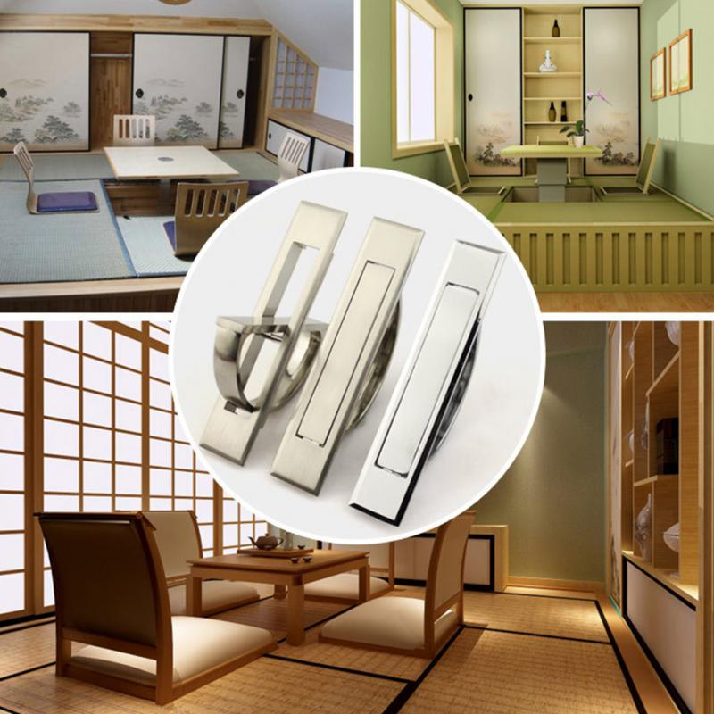 Hidden Handle Tatami Kitchen Cabinet Drawer Handles Rotating Platform Invisible Handle 2 colors for choiceHidden Handle Tatami Kitchen Cabinet Drawer Handles Rotating Platform Invisible Handle 2 colors for choice