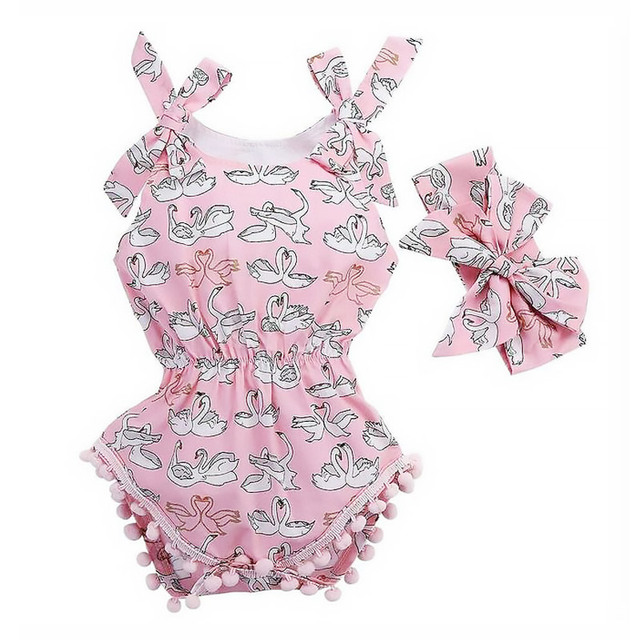 5b90ae4f4276 2018 New Baby Girl Rompers Summer Romper Newborn Infant Baby Girls ...