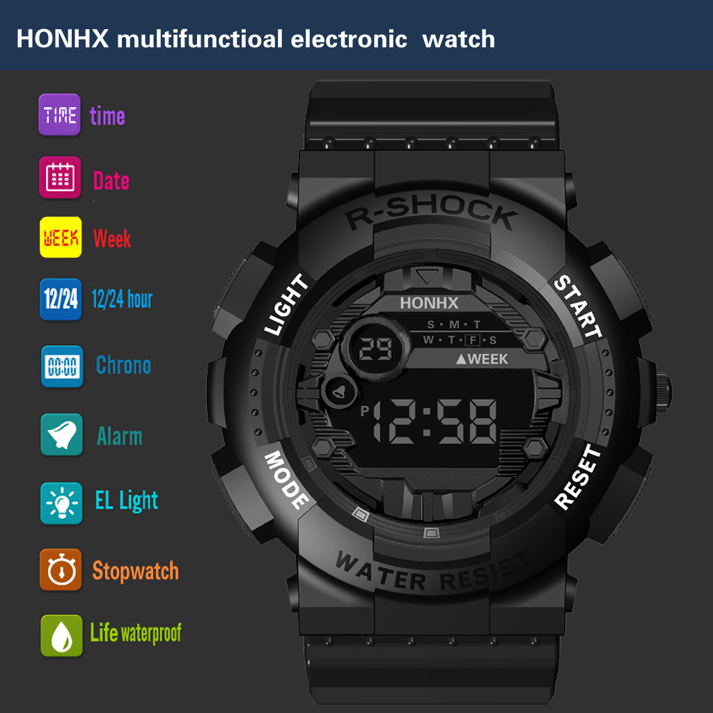 Clock Men Wrist-Watch Digital Army Military Analog Sports Electronic Masculino Relogio