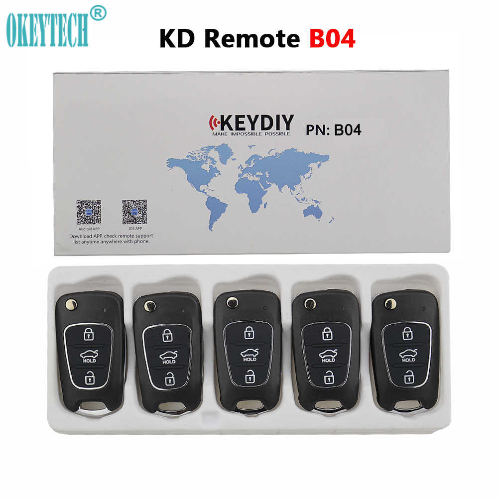 OkeyTech 5PCS/LOT 3 Buttons KD Remote Key DIY For KIA Style For KD900/KD900+/URG200 Key Programmer B Series B04