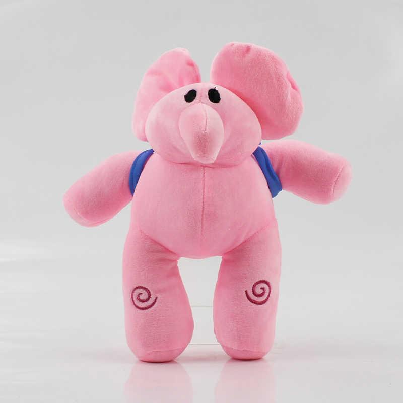 Cm-30 14 cm Dos Desenhos Animados Elefante Pato Pocoyo Elly pato Loula Nina pássaro Sonolento Bichos de pelúcia Brinquedos de Pelúcia Macia bonecas para As Crianças Presentes