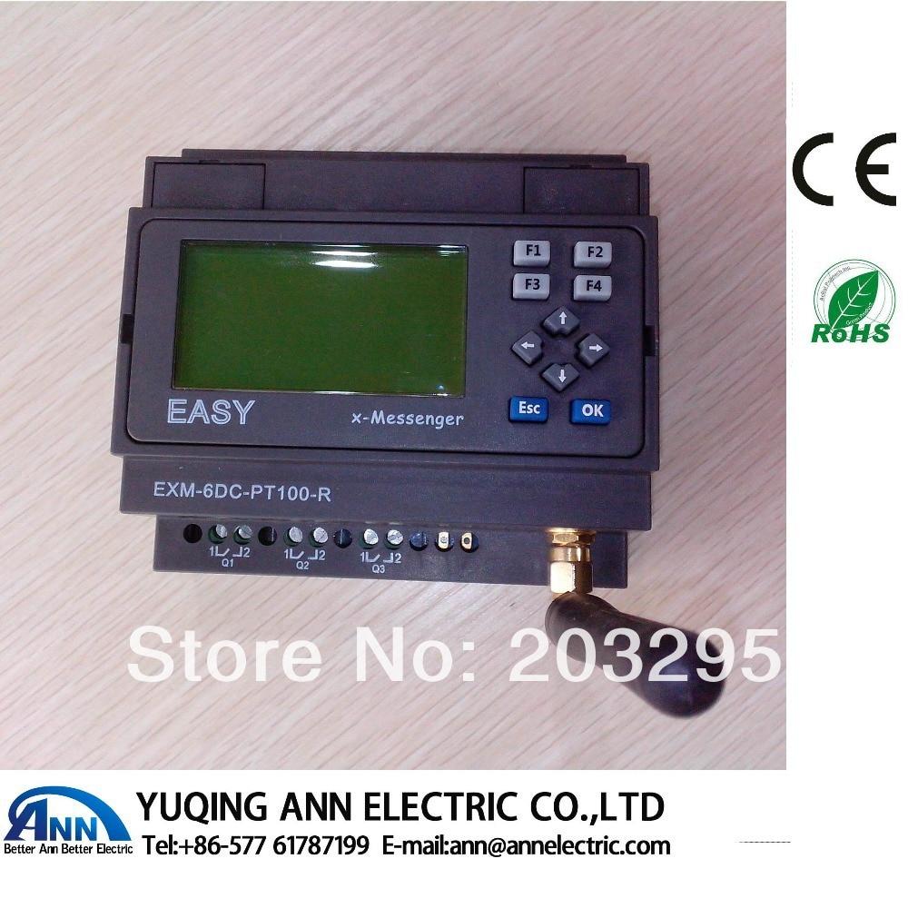 PLC EXM-8DC-PT100-R-HMI with  LCD,Programmable logic controller plc exm 12dc da r hmi with lcd programmable logic controller