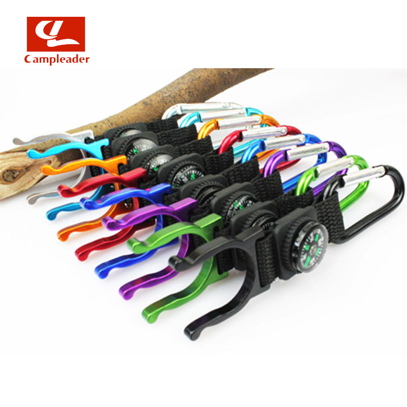 5pc Compass Outdoors Camping Climbing Carabiner Water Bottle Buckle Hook Holder Clip For Camping Hiking Survival CL091