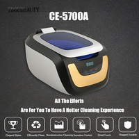 TDOUBEAUTY CE 5700A Ultrasonic Cleaners,False Teeth,Teeth,Cleaning Machine For Jewelry, Eyeglasses, Watches,Orange Free Shipping