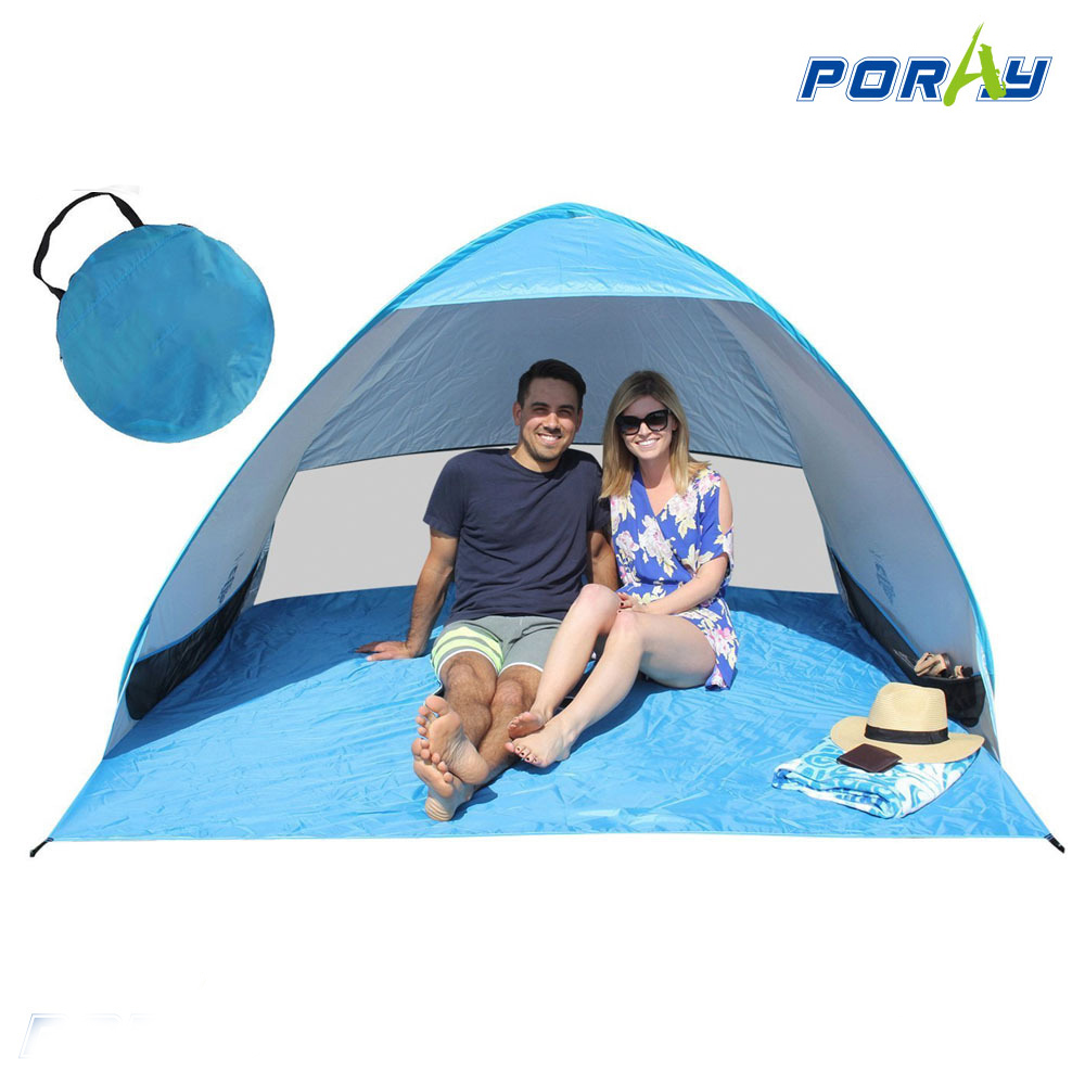 Cabana Portable Shelter : Poray automatic pop up instant portable outdoors quick