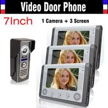 7″ video door phone LCD Monitor Video DoorPhone Doorbell IR Night Version Camera video intercom system Video Door Bell