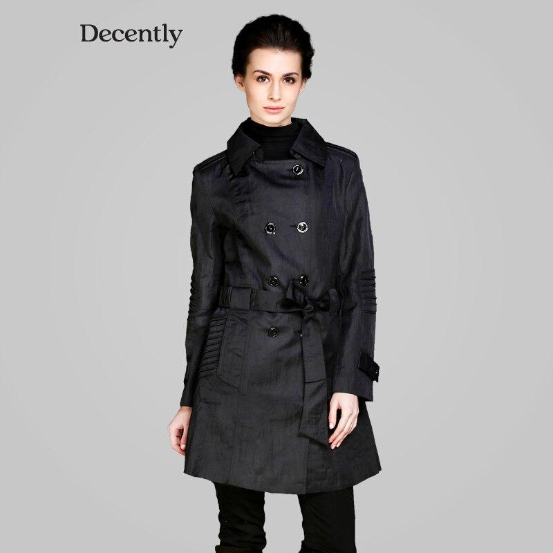 Decently 2017 new Womens Chic Tops jackets hooded windbreaker women coat fashion 9596