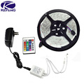 3528 Led Strip RGB Waterproof SMD 300 LEDS diode 5M IP65 tape set + 24 Keys IR Remote Controler + 12V 2A power adapter Discount