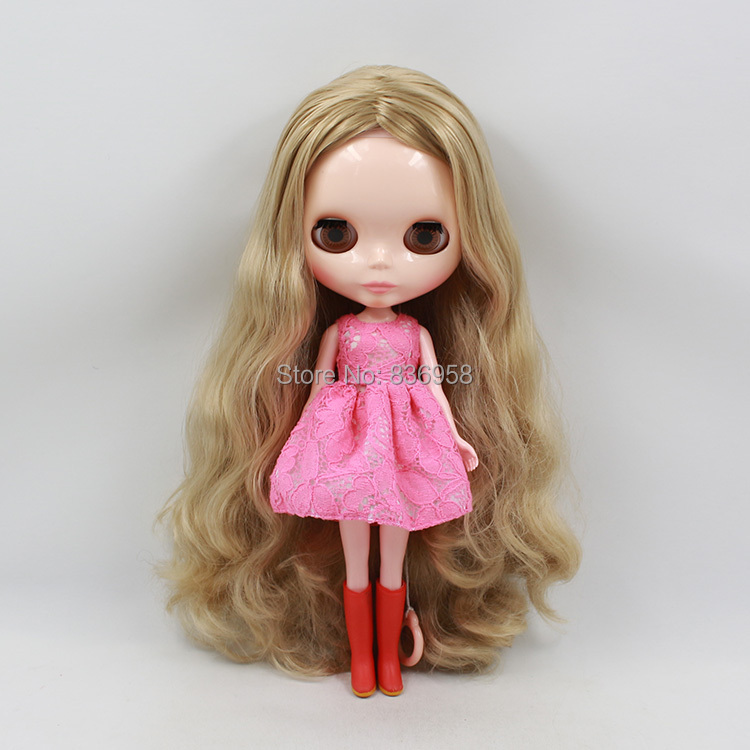 Nude Doll For Series No .300BL3227 GOLDEN Long hair White skin Suitable For DIY Change Toy For Girls