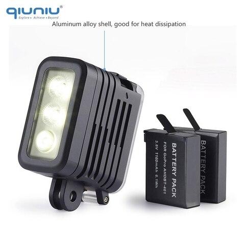 QIUNIU 50M Underwater Diving LED Light Waterproof Fill Light for GoPro Hero 8 7 6 5 4 for DJI Osmo Action for Canon DSLR Cameras Multan