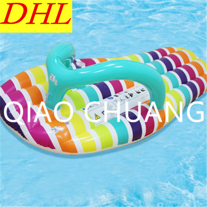 Wholesale 100pcs/lot Inflatable Slippers Recliner Floating Mat Sunbathe PVC Thicken WATE ...