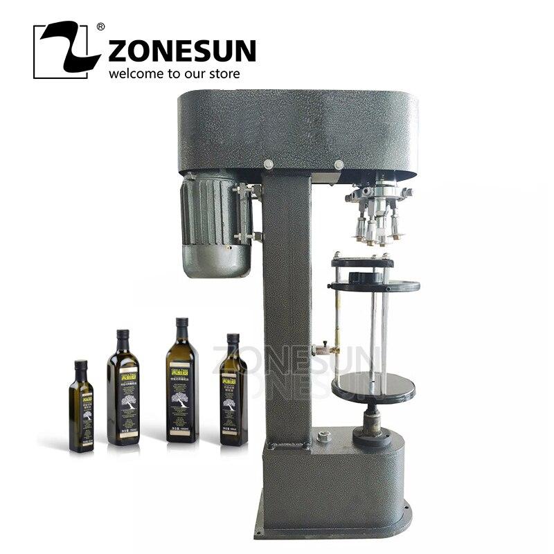 ZONESUN Wine ROPP bottle cap crimping machine,semi-automatic metal cap crimper, aluminum cap lock morat cap roig