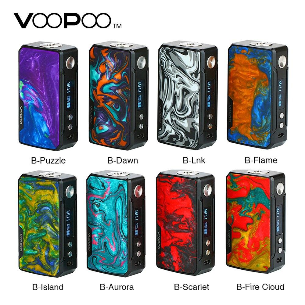 Оригинальный 177 Вт VOOPOO DRAG 2 Коробка мод с Красочная Смола внешний вид E-cig Vape мод без 18650 батареи Vs Drag Mini/Shogun Univ