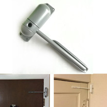 1 Set 10-60KG Zinc Alloy Mini Adjustable Surface Mounted Automatic Spring Closing Door Closer