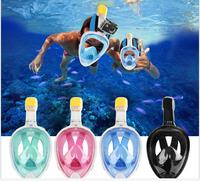 Scuba Diving Masks Full Face Anty fog Snorkeling Mask For Gopro Camera Underwater Swimming Trainting Children Aduilt Diving Tool