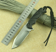 WTT Tactical Fixed Blade Straight Knife With D2 Blade Full Tang G10 Handle Survival Camping Knife Hunting Outdoor Knife EDC Tool