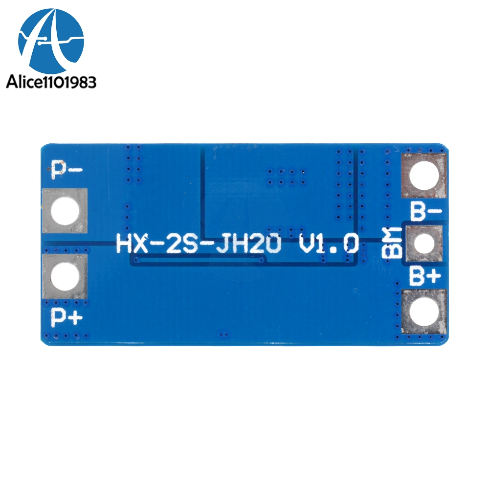 2s 10a 84v 74v 18650 Lithium Protection Board Bms Pcm Pcb Li Ion Lipo Balancer Seven Segments 2 Cell Pack With Balance Function Charger Protect Module In Integrated Circuits From