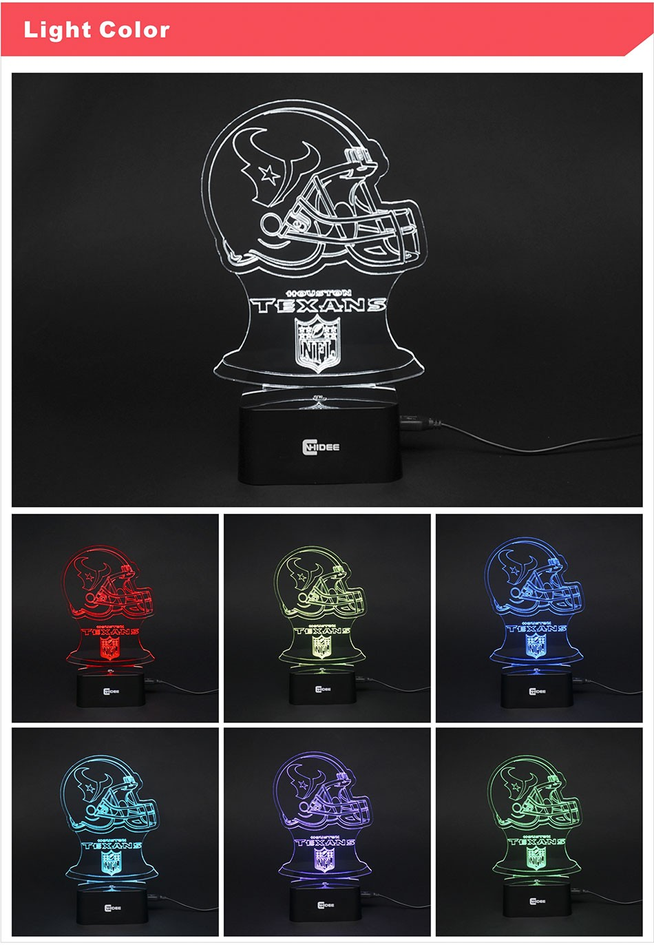 USB Lampara Futbol 7 Colors Changing 3D  LED Night Lights for Soccer Fans as Bedroom Table Lamps Baby Sleeping Nightlights (3)