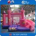 Entrega libre 5x4 m inflable castillo hinchable/rosa princesa tema gorila jumper