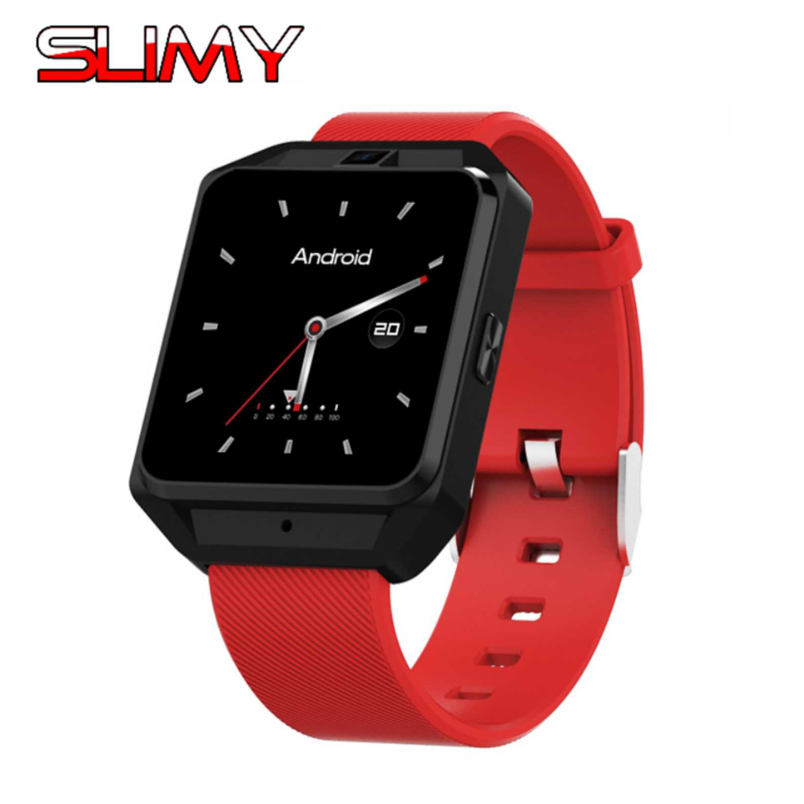 Slimy 4G Smart Watch Android 6.0 MTK6737 Quad Core 1GB/8GB Smartwatch Phone with Heart Rate Sim Card GPS Wifi Camera Watch smart watch smartwatch dm368 1 39 amoled display quad core bluetooth4 heart rate monitor wristwatch ios android phones pk k8
