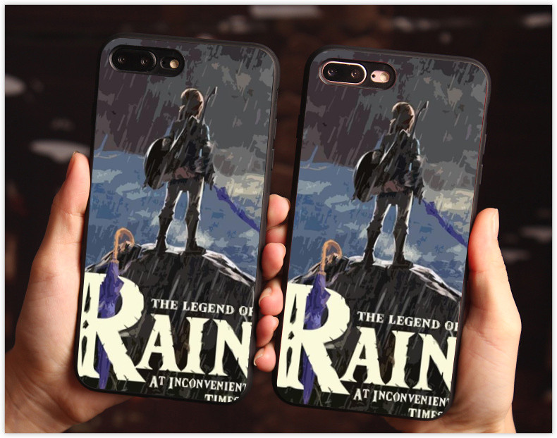 new product 43f0a a01d9 US $1.84 32% OFF|The Legend of Zelda Breath of the Wild Sheikah Slate Soft  silicone Phone Case For iPhone 6 6S Plus 7Plus XR XS XSMAX Black Cover-in  ...