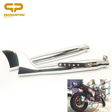 Fish Tail Motorcycle Exhaust Chrome DB Killer Muffler 21 Escape Moto Left Right for Vintage Silencer Harley-Davidson Scooter