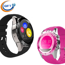 GFT KW08 Bluetooth Sport Wrist Watch GSM SIM Pedometer Heart Rate Monitor For Android Phone font