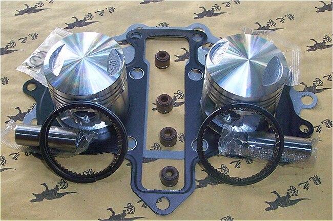 Livraison Gratuite CBT150 GARDE-QJ150J Moto Piston Anneaux Ensemble Pinston Pins Avec Joints Double Cylindre