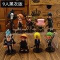 Anime de One Piece Mini figuras de acción los sombrero de paja wcf One Piece Luffy / Roronoa Zoro / Sanji / Chopper juguetes figuras 6 unids/set envío gratis