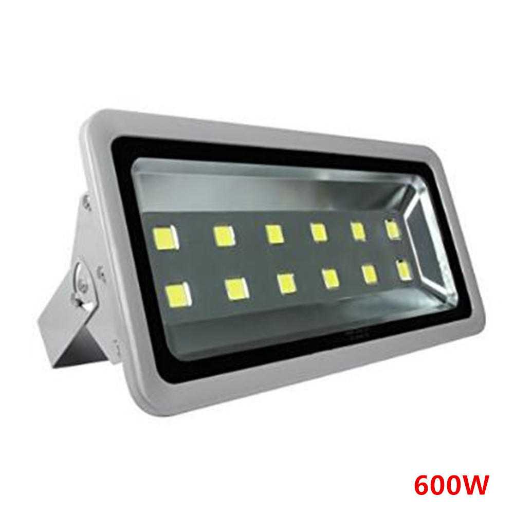 Waterproof LED Floodlight AC85-265V Warm White/Cold White COB 100W/600W Reflector Flood Lighting Spotlight  Outdoor Gargen Lamp 2017 gift enmex creative simple design brief face with a red pointer steel band water prof young and fashion quartz watch