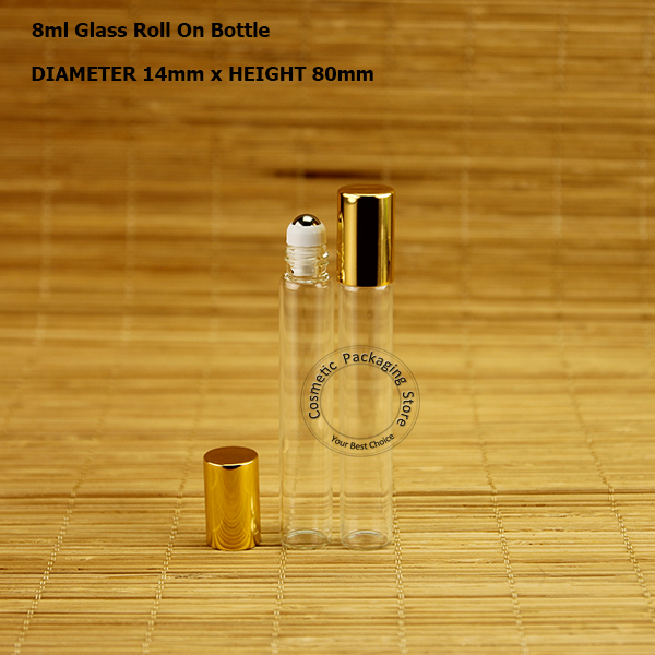 f2adae04a0e9 US $27.21 16% OFF|50pcs/Lot Wholesale 8ml Glass Essential Oil Roll on  Bottle 4/15OZ Perfume Pot Container Refillable Parfum Women Cosmetic  Case-in ...