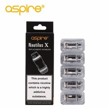 5pcs/lot Aspire Nautilus X Coil Electronic Cigarette Vape Atomizer Head 1.5ohm 1.8ohm Replacement Core for X30 Rover Starter Kit
