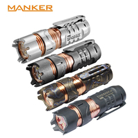 Manker Timeback II 2200 Lumens Spinner Titanium Flashlight 4x CREE XPG3 LED Torch Pocket EDC 18350 Flashlight (4 Version Option)