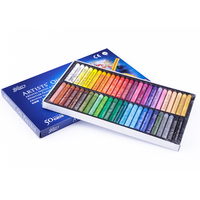 Pastel al óleo Artista Profesional Dibujo Pluma Forma Redonda Arte Dibujo Suministros Set 50 Colores/Set