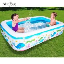 Купить с кэшбэком Inflatable pool Water play Pool in Summer Children's inflatable Swim Center Family Pool ball pit