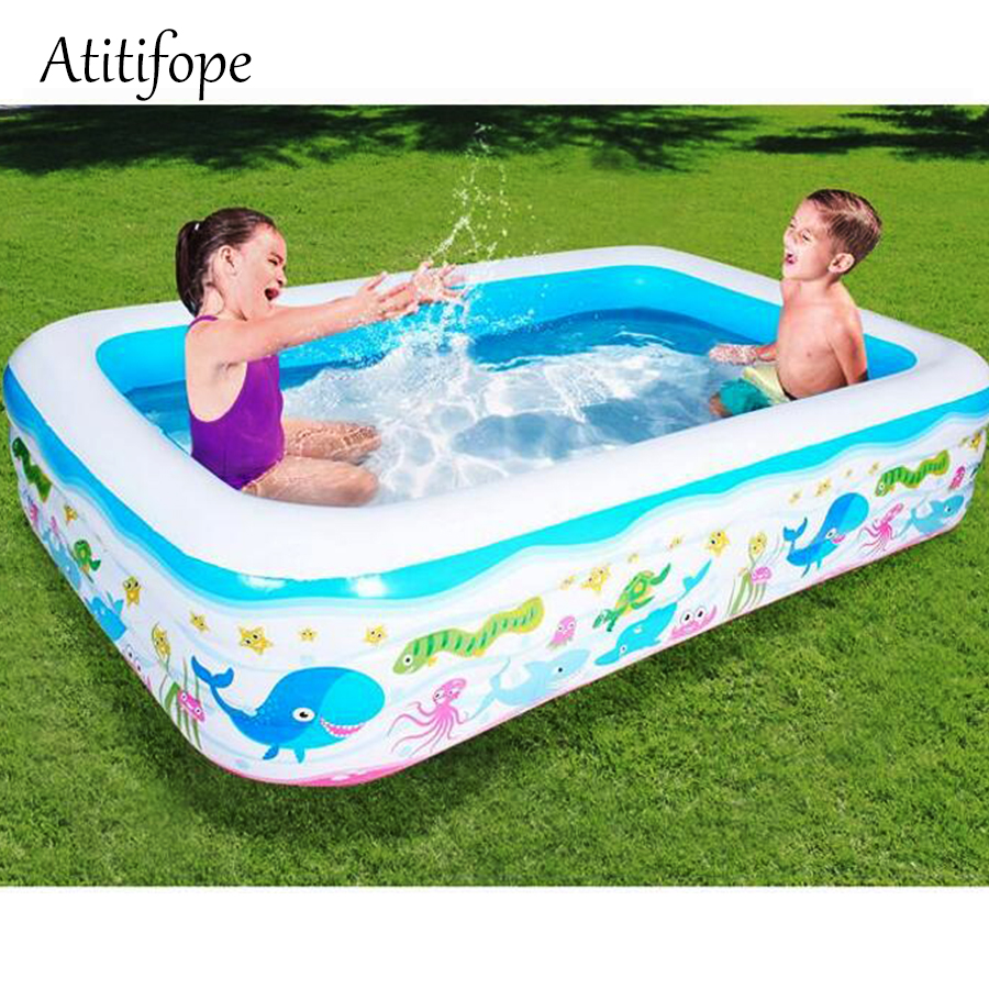 Inflatable pool Water play Pool in Summer Childrens inflatable Swim Center Family Swimming ball pit