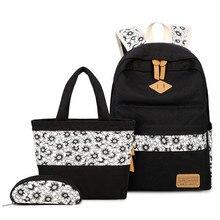 Комплект рюкзаки школьные сумки для девочек-подростков Packbag печати BAGPACK холст рюкзак для ноутбука женщины путешествия рюкзак Mochilas