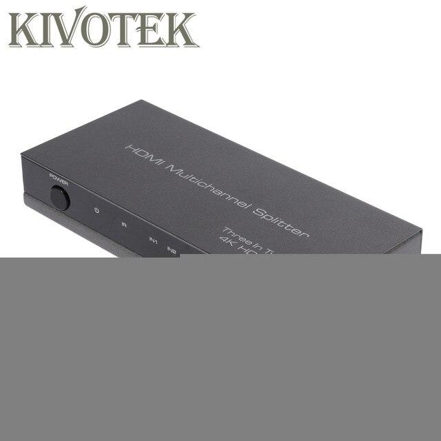 Adaptador divisor conmutador HDMI 4K 3D 3x2, conector extensor IR Control RC, fuente de alimentación para HDTV DVD PS3 PSP envío gratis