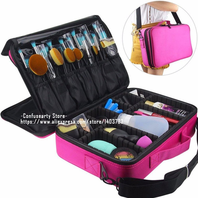 2017 new arrival cosmetic bag case makeup box waterproof travel cosmetic bag professional beauty cosmetic box