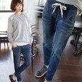Джинсы женские большой размер женщин высокой талии синие джинсы с высокой талией парни женские брюки сексуальный женский XL 5XL