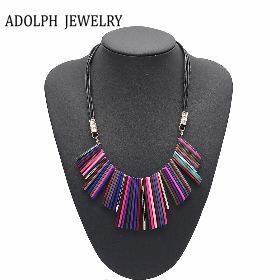 ADOLPH Jewelry Wholesale Maxi Necklace For Women 2015 New Design Fashion Geometr