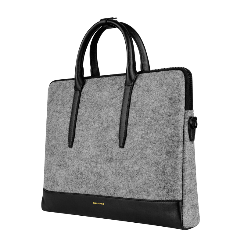 Fashion Wool Felt Women Tote bag laptop bag for macbook Touchbag Pro 13 15  inch briefcase Notebook Messenger Bag Ladies Handbag-in Laptop Bags   Cases  from ... 988ff0f78b250