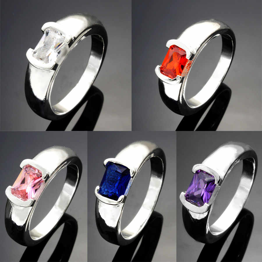 Sliver Plated Crystal Rhinestone Ring For Women Cute Elegant Luxurys Party Engagement Party Ring Fashion Wholesale